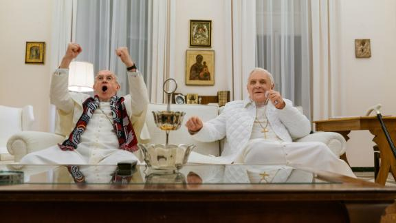 """<strong>""""The Two Popes""""</strong>: From Academy Award-nominated screenwriter Anthony McCarten comes an intimate story of one of the most dramatic transitions of power in the last 2,000 years. Frustrated with the direction of the church, Cardinal Bergoglio (Jonathan Pryce) requests permission to retire in 2012 from Pope Benedict (Anthony Hopkins). Instead, facing scandal and self-doubt, the introspective Pope Benedict summons his harshest critic and future successor to Rome to reveal a secret that would shake the foundations of the Catholic Church. <strong>(Netflix) </strong>"""