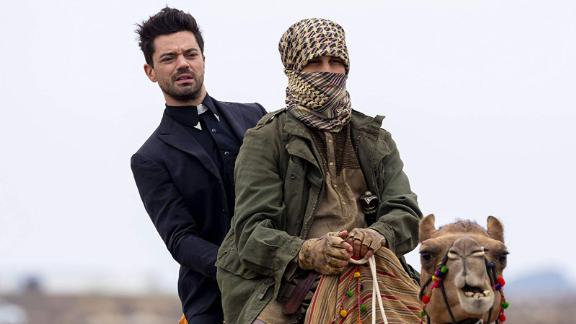 """<strong>""""Preacher"""" Season 4</strong>: The adventures of the hard-drinking, chain-smoking preacher out to find God after he is gifted with an extraordinary power continues. <strong>(Hulu) </strong>"""
