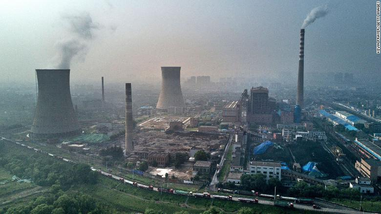 In this June 2017 file photo, a state-owned coal-fired power plant is seen in Huainan, China.