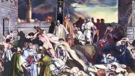 14th-century plague of Florence as described by Giovanni Boccaccio.