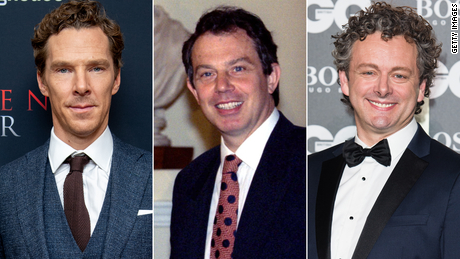 Cumberbatch (left) could be in the conversation and Michael Sheen (right) has already played the role.