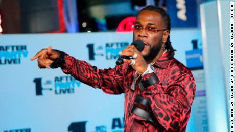 Burna Boy performs onstage during the Post Show at the 2019 BET Awards