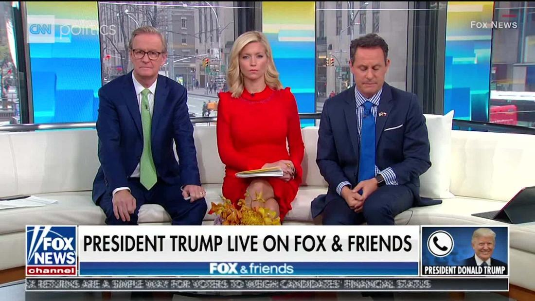 Trump makes at least 18 false claims in ranting Fox & Friends interview
