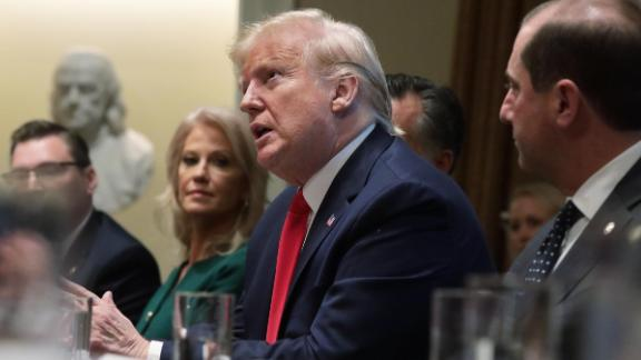 WASHINGTON, DC - NOVEMBER 22:  U.S. President Donald Trump speaks during a listening session on youth vaping of electronic cigarette on November 22, 2019 in the Cabinet Room of the White House in Washington, DC. President Trump met with business and concern group leaders to discuss on how to regulate vaping products and keep youth away from them.  (Photo by Alex Wong/Getty Images)