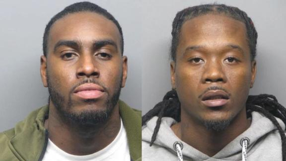 Domico Dones, left, and Frederick Johnson were arrested and charged in connection with a Halloween shooting that left five dead.