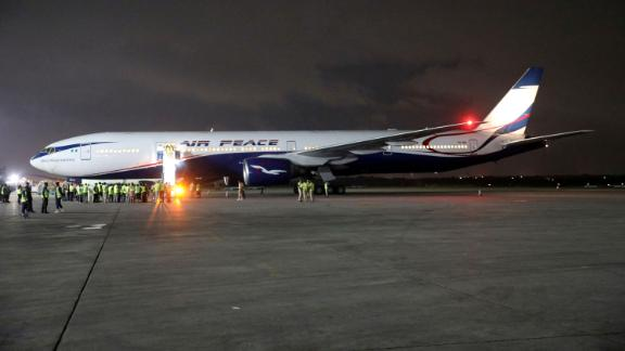 Nigerians arrive on an Air Peace jet in September in Lagos after evacuating South Africa amid xenophobic attacks on foreign nationals.