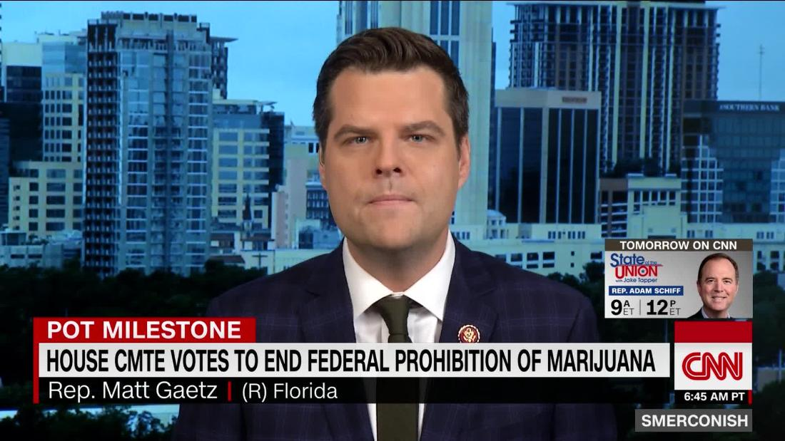 Gaetz on vote to end federal prohibition of marijuana