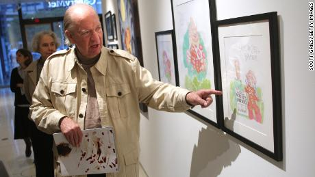 Gahan Wilson discusses his piece on display at an exhibit in New York in 2007.