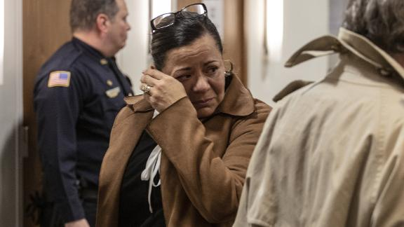Alexandra Mansonet after being found guilty of texting-related vehicular homicide in  New Jersey.