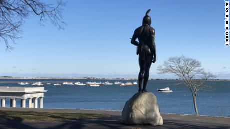 Statue of Massasoit on Cole's Hill
