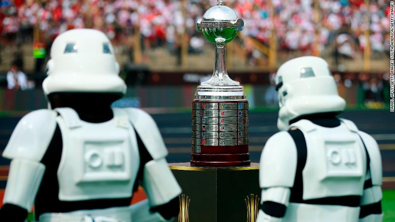 "'Star Wars"" stormtroopers also played their part during the pre-game show prior the Copa Libertadores final."
