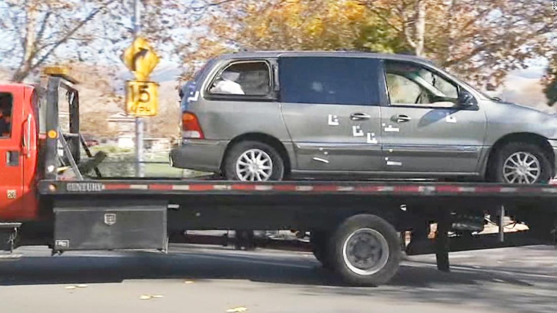 2 boys shot dead while sitting in a van at an elementary school parking lot, police say