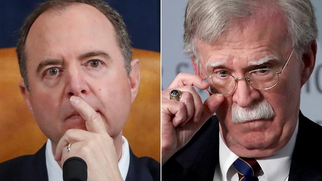 Schiff won't say whether the House will subpoena John Bolton
