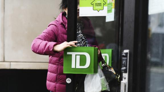 A customer enters a TD Ameritrade Holding Corp. bank branch in New York, New York, US., on Saturday, April 20, 2019. TD Ameritrade Holding Corp. is scheduled to release earnings figures on April 23. Photographer: Gabby Jones/Bloomberg via Getty Images