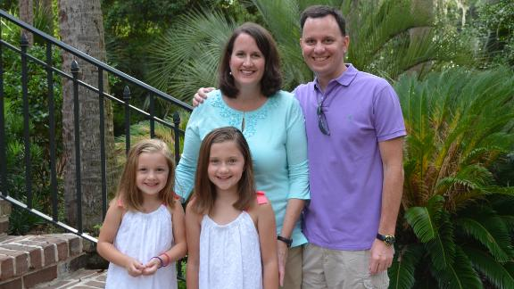 Jennifer Miller of Westfield, New Jersey, with her husband Christopher and daughters Caroline and Katie.