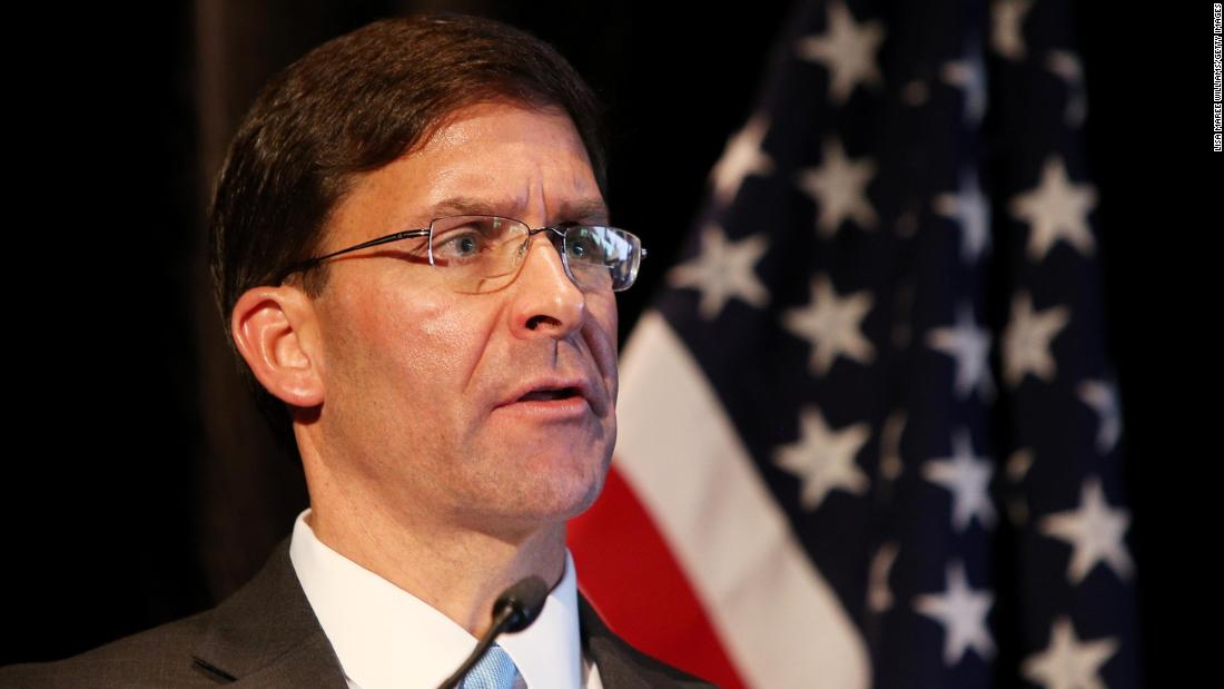 After the President said the US could target Iranian cultural sites, Mark Esper said the US wouldn't. 'We will follow the laws of armed conflict.'