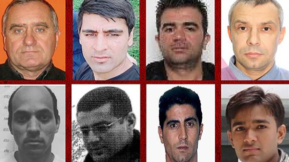 Interpol is calling for the public's help in locating these eight men who are wanted for alleged crimes against women.