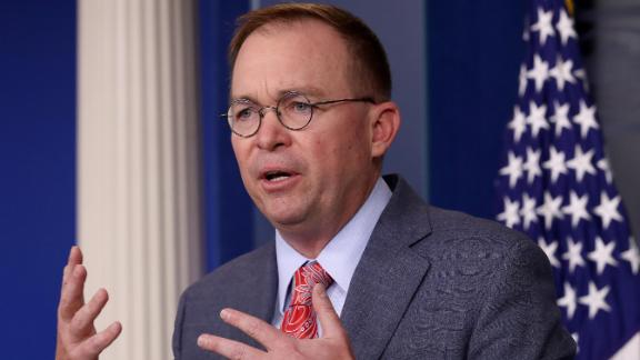 Acting White House Chief of Staff Mick Mulvaney answers questions during a briefing at the White House October 17, 2019 in Washington, DC. Mulvaney answered a range of questions relating to the issues surrounding the impeachment inquiry of U.S. President Donald Trump, and other issues during the briefing.