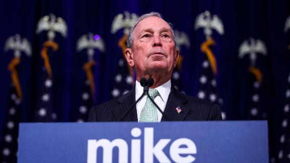 NORFOLK, VA - NOVEMBER 25: Newly announced Democratic presidential candidate, former New York Mayor Michael Bloomberg speaks during a press conference to discuss his presidential run on November 25, 2019 in Norfolk, Virginia. The 77-year old Bloomberg joins an already crowded Democratic field and is presenting himself as a moderate and pragmatic option in contrast to the current Democratic Party