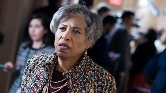 Rep. Brenda Lawrence, a Michigan Democrat, is seen after a meeting of the House Democratic Caucus in the Capitol in September 2019.