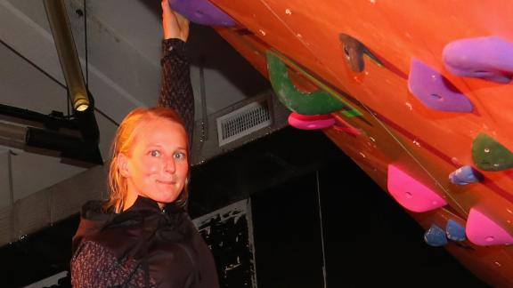 Rock climber Emily Harrington attends The North Face event celebrating the company