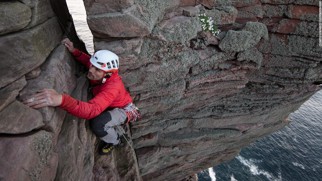 Blind climber Grenzen von führenden 449-Fuß-Aufstieg