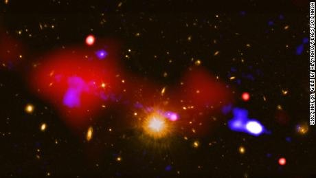 The black hole that helps baby stars grow instead of destroying them