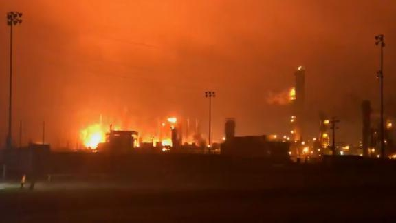 There has been a major explosion at a Texas plant this morning, Port Neches police tells CNN. The explosion/fire is taking place TPC plant.