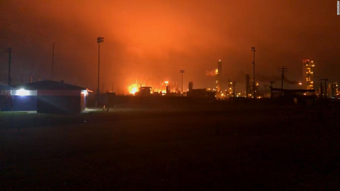 Firefighters contain the blaze at a Texas chemical plant but a mandatory evacuation order remains in place