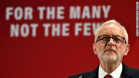 Labour leader Jeremy Corbyn campaigning ahead of the UK's December 12 general election.