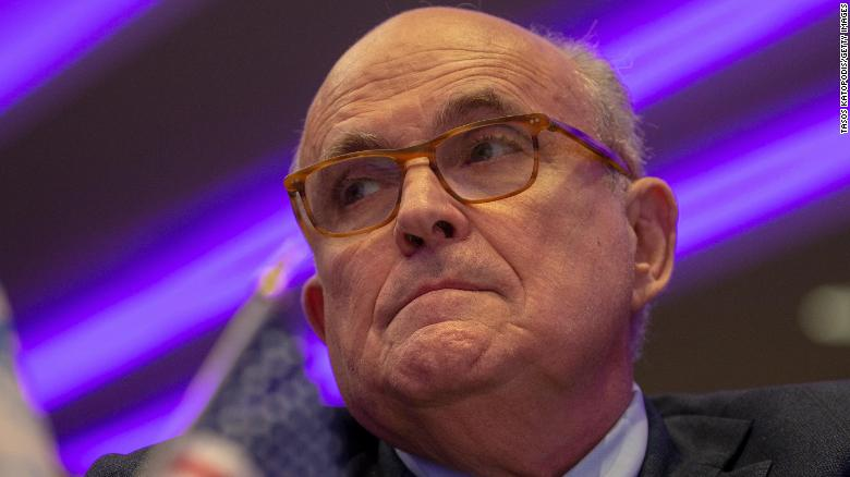 Rudy Giuliani gives shifting answers on seeking information from Ukrainian oligarch