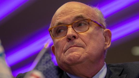 Rudy Giuliani is seen in May 2018 in Washington, DC.