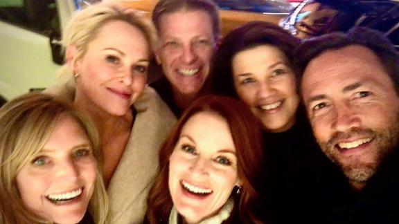 "Some of the ""Melrose Place"" cast got together in New York City recently."