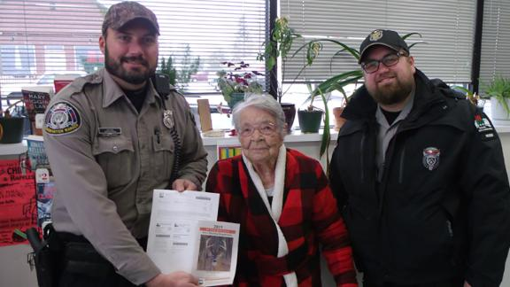 Florence Teeters, an 104-year-old Wisconsin woman, shot a deer in her first time out hunting. She