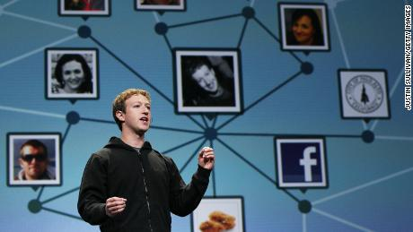 Facebook CEO Mark Zuckerberg speaking at the company's F8 developer conference in 2010.