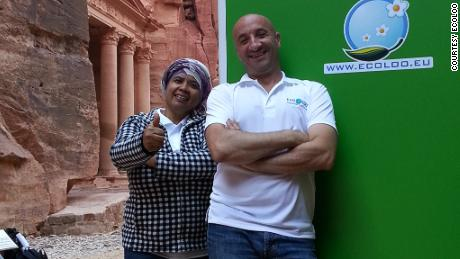 EcoLoo co-founders Zuraina Zaharin and Imad Agi.
