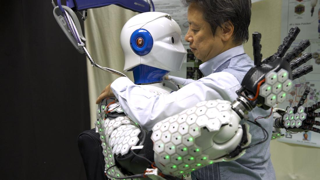 The artificial skin that allows robots to feel
