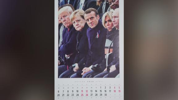 The calendar's intended message appears to be that Putin is no longer isolated despite continuing international sanctions against Russia.