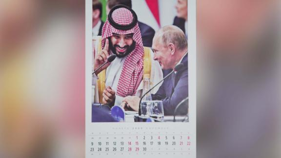 The calendars highlight Putin's high-profile Russian diplomatic successes of the year, particularly in the Middle East.