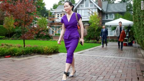 Huawei Chief Financial Officer, Meng Wanzhou, leaves her Vancouver home to appear in British Columbia Supreme Court on September 23, 2019.