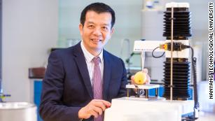William Chen, professor of food science and technology at Singapore's Nanyang Technological University, is developing biodegradable plastics using soybean waste.