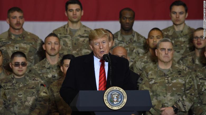 Trump makes surprise visit to troops in Afghanistan