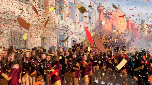 Confetti flies at the start of the Macy's Thanksgiving Day Parade on Thursday, November 28, 2019. Scroll through the gallery to see more photos from the 2019 parade: