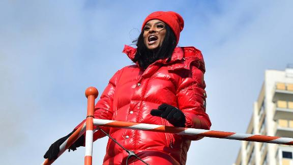 Singer Ciara takes part in the festivities.