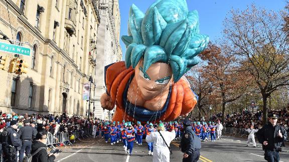 """""""Dragon Ball"""" character Goku makes an appearance."""