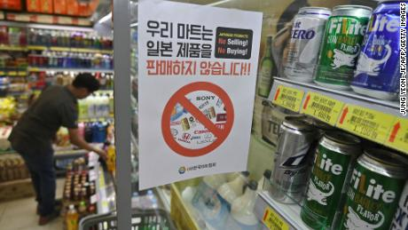 South Korea didn't buy any beer from Japan last month