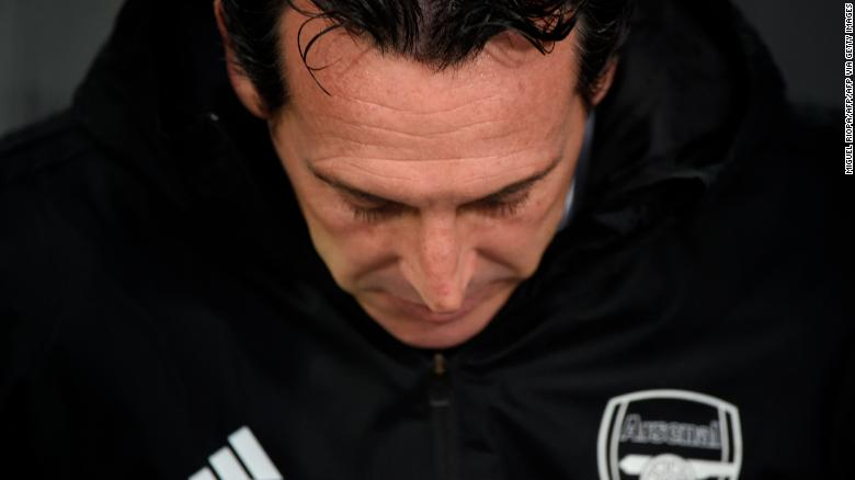 Emery has been the target of criticism from Arsenal fans for a number of weeks.