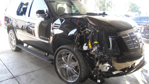 Tiger Woods crashed his SUV into a fire hydrant and a tree near his Florida home on November 27 2009.