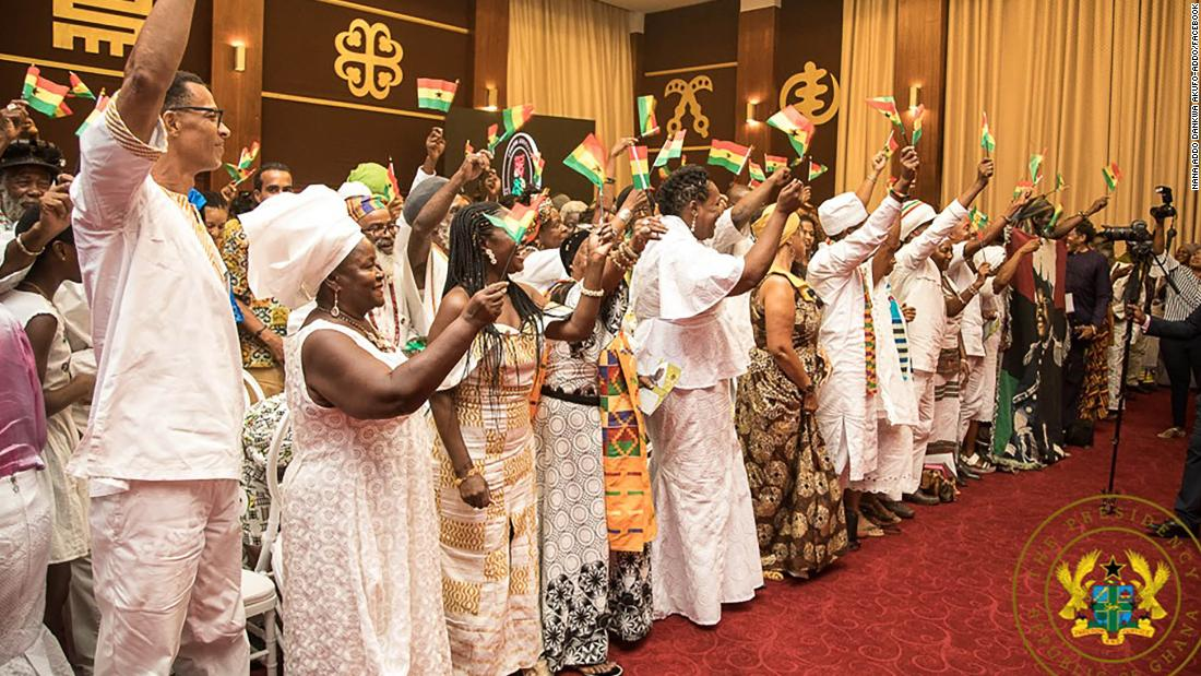 Ghana made 126 African-Americans and Caribbeans its citizens as part of Year of Return celebrations.