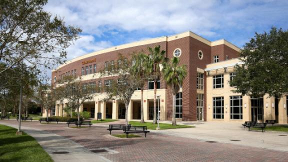 ORLANDO, FLORIDA, OCTOBER 28: University of Central Florida's Classroom1 Building on the main UCF campus, as seen on October 28. 2017.